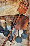 Traditional oven and cooking utensils