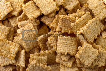 Crunchy breakfast cereals background