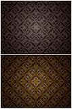 Set gold and silver seamless patterns