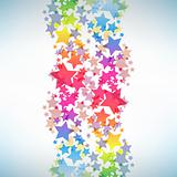 Abstract colorful star background.