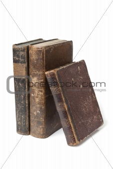 Antique books isolated