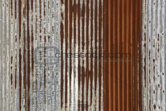 corrugated rusty iron