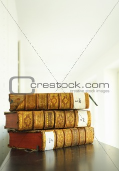 old books in library