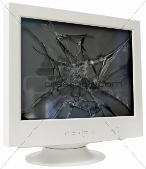 CRT monitor cutout