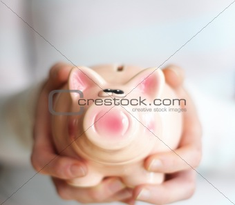 piggy bank and copyspace