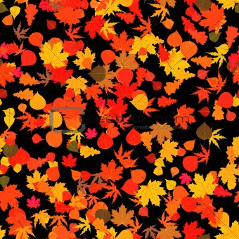 Autumn red bright leaves. EPS 8
