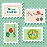Easter postal stamps set
