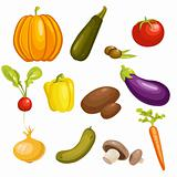 Vegetables Set isolated