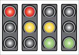 Traffic light. Variants