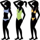Swimsuit Silhouettes 3