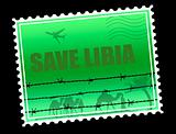 Save Libia stamp