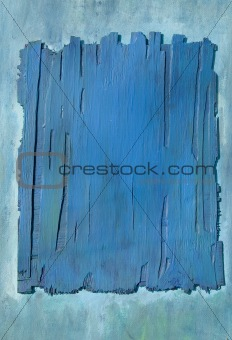 painted plywood blue background