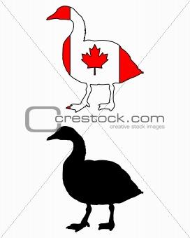 Canada goose flag