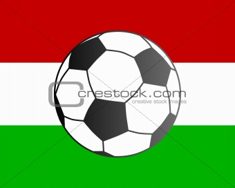 Flag of Hungary and soccer ball