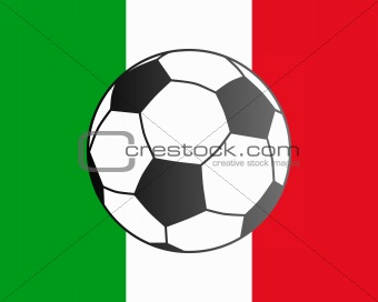 Flag of Italy and soccer ball