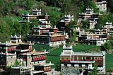 Landscape of Tibetan buildings