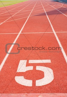 Athletics track number five.