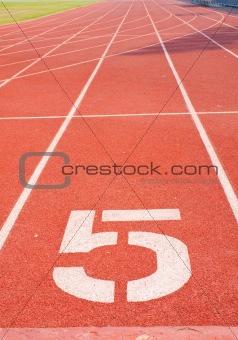 Athletics track number five.
