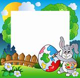 Easter frame with bunny artist