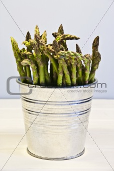 Asparagus in a bucket
