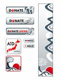 Japan donation banners