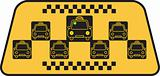 Illustration of a taxi sign