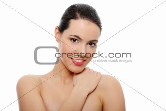 Beautiful young caucasian woman portrait