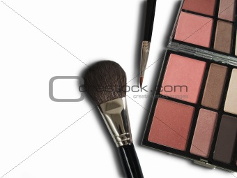 Cosmetics for beauty on white