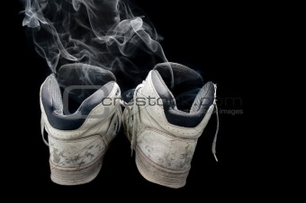 smelly old sneakers