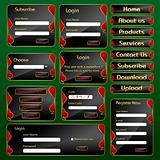 Web Form Template with Casino concept