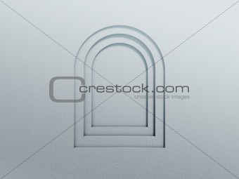 arc window wall background