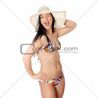 Summer young woman in bikini