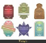 intage labels set vector illustration
