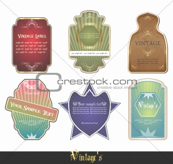 �intage labels set vector illustration