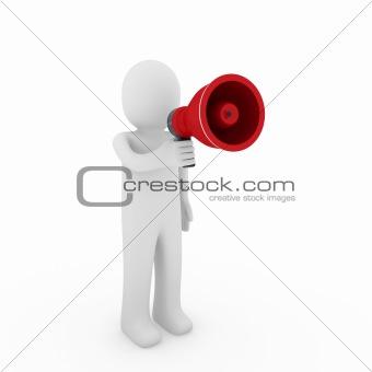 3d human megaphone