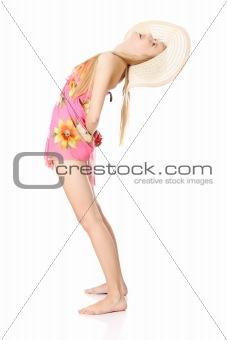 Beautiful young summer woman