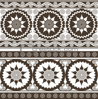 seamless indian style scroll background pattern