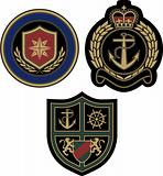 classic royal emblem badge design