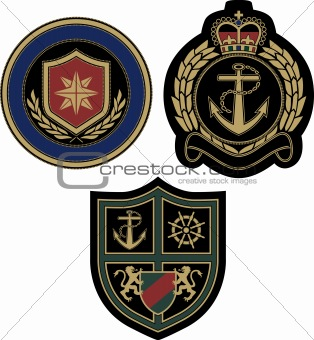 classic royal emblem badge design
