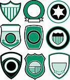classic sport emblem badge set