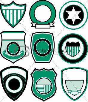 classic sport emblem badge set