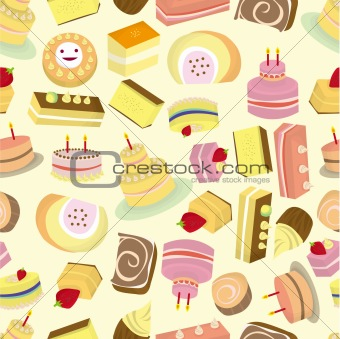 seamless Cakes pattern