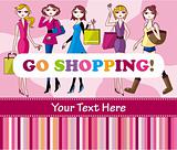 woman shopping card