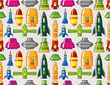 seamless Spacecraft pattern