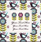 bird flower card