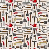 seamless garden tool pattern