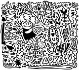 hand draw cartoon love element
