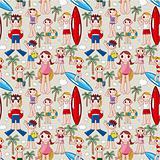 seamless summer people pattern