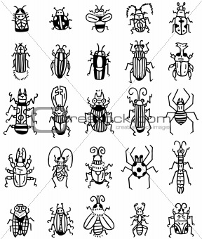 hand draw insect icon