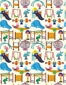seamless park playground pattern